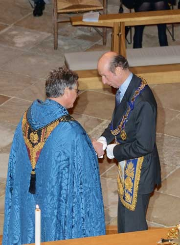 Duke of Kent cheque presentation to the Dean.jpg